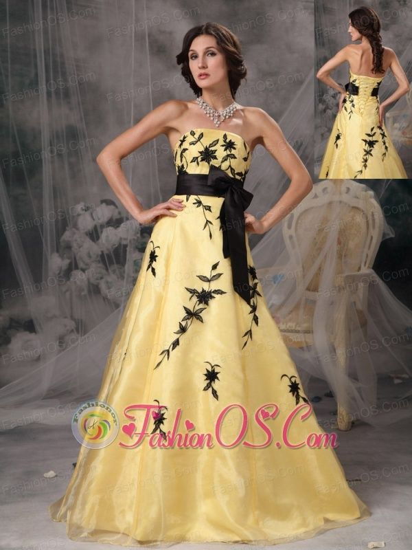 Yellow and Black Ball Gown – fashion dresses