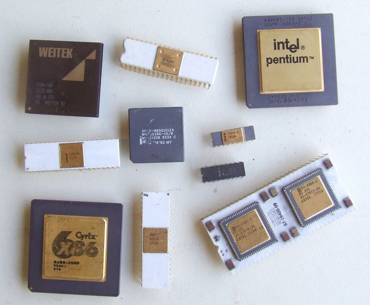 Set Of Rare Processors In Poor Condition Intel Cyrix