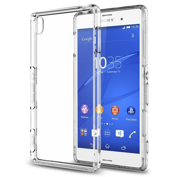 100% Authentic Spigen For Sony Xperia Z3 Case Ultra Hybrid - Air Cushion & Crystal Back Panel Case