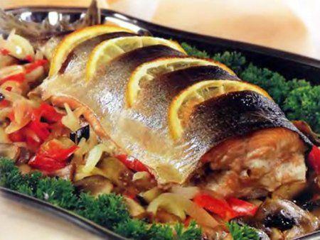 Фаршированная рыба голец в духовке