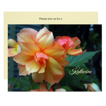 Begonia Bridal Shower Invitation - shower gifts diy customize creative
