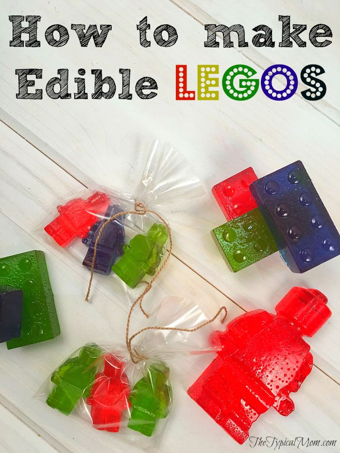 How to easily make edible LEGOs at home. Great for Lego craft for a party!!