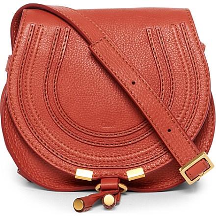 CHLOE Marcie small saddle bag (Maple leaf