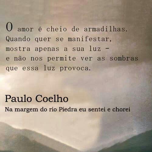 Pin de Caro E. Lledó R. em Paulo Coelho   Imagenes de amor