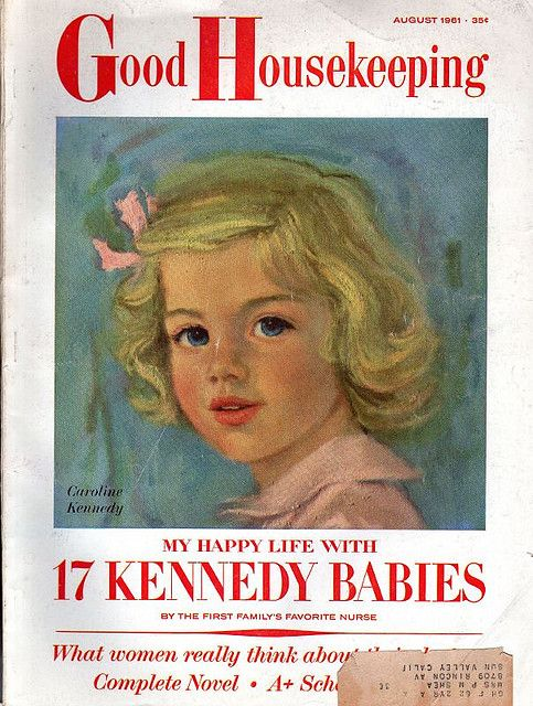 Cute little Caroline Kennedy! GH August 1961