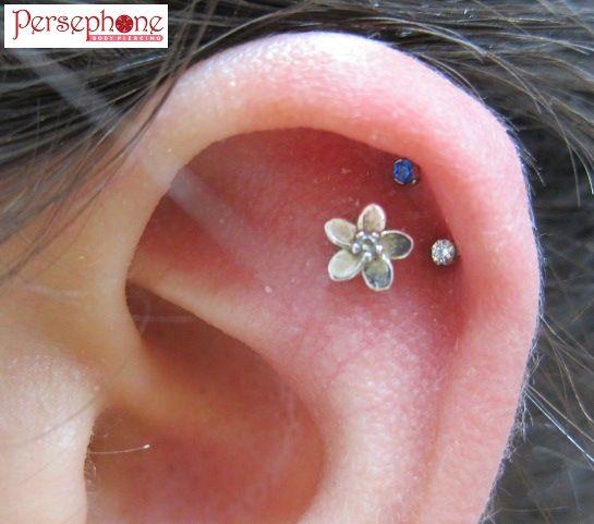 Flower cartilage earring