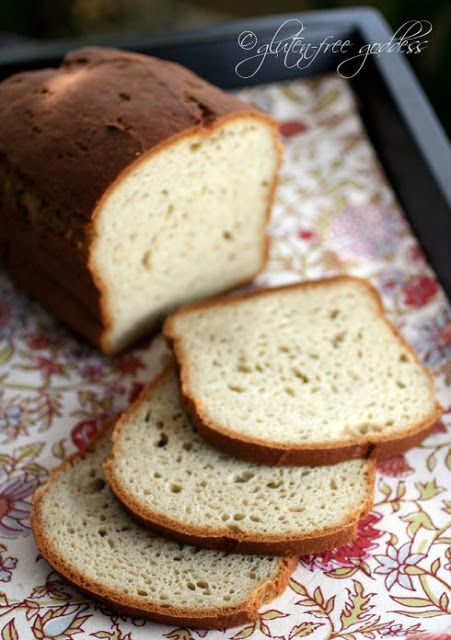 Delicious Gluten-Free Bread Recipe - dairy-free and rice-free, too   Gluten-Free Goddess® (uses sorghum flour (aka jowar flour), tapioca starch or potato starch (not potato flour!), millet flour or GF oat flour)