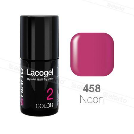 Lakier hybrydowy Lacogel nr 458 - fioletowy neon 7ml #lacogel #elarto #fioletowy #neon