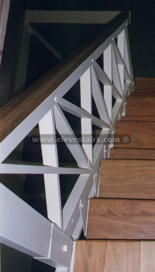 stair railing  Country Railing Crossed Railings Railings of forge in iron modern   For