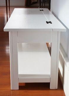 Fliptop bank salontafel, diy, beschilderde meubels, houtbewerking projecten