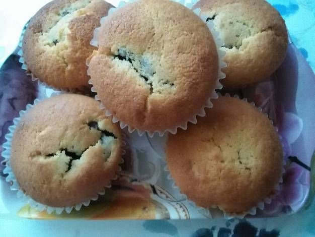 Rumos csokipudinggal töltött muffin