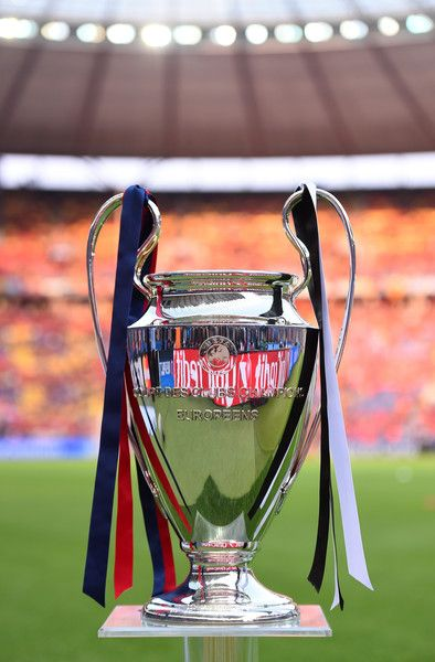 A view of the Champions League trophy prior to the UEFA Champions League Final between Juventus and FC Barcelona at Olympiastadion on June 6, 2015 in Berlin, Germany.
