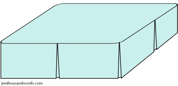 DIY bed skirt tutorial, or how to make a custom bed skirt without a pattern - full tutorial.