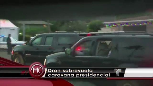 Un Dron Interrumpe Caravana Del Presidente Obama #Video