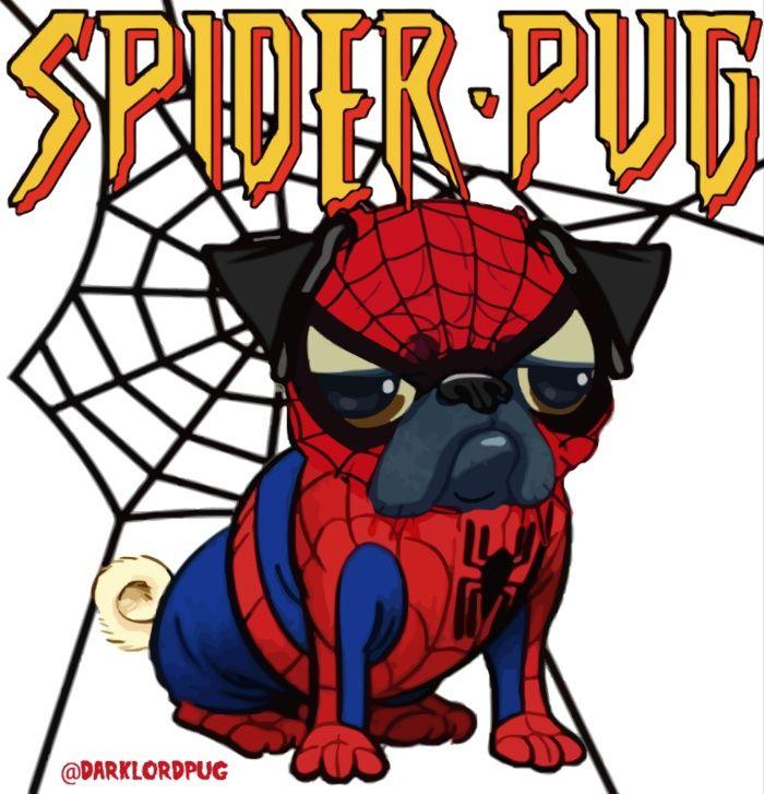 Spider Pug Art Print by Dark Lord Pug | Society6