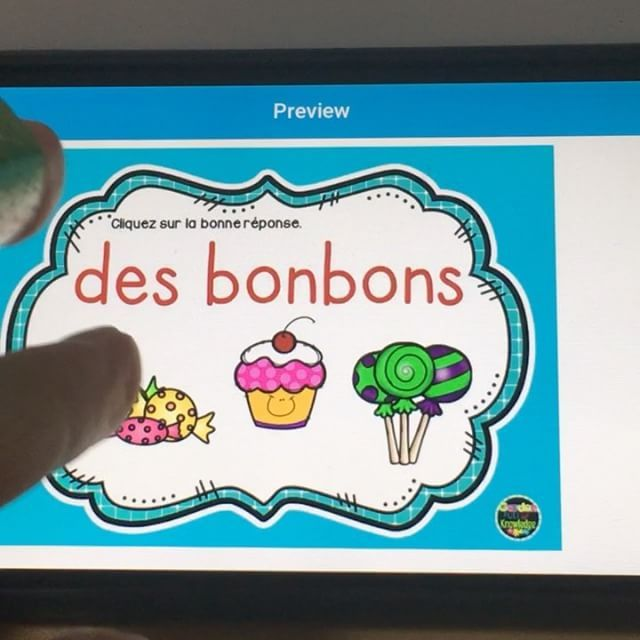 Boom! Learning to read French digital native style with Garden Full of Knowledge.