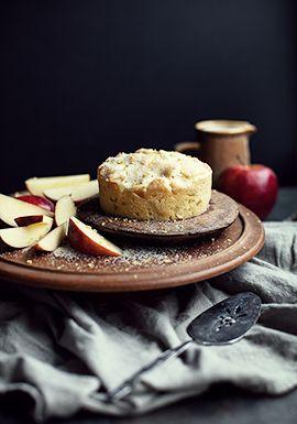 Gâteau au citron, aux pommes & à l'huile d'olive