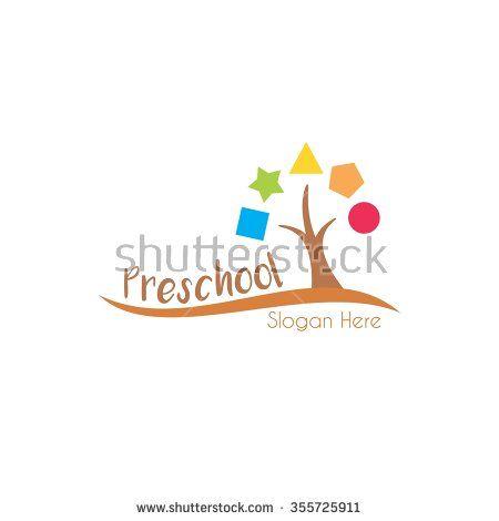 Playgroup, preschool, kindergarten logo template - stock vector