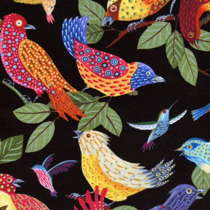 Los Cabos Birds - Elizabeth Studios - 1 yard - More Available by BywaterFabric on Etsy