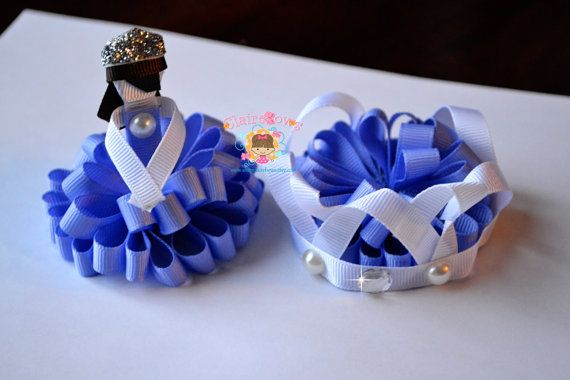 Sofia the First Loopy Puff Set Tiara Princess by ShopClaireBows, $13.50