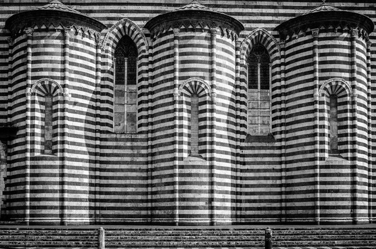 Orvieto - B&W detail from Orvieto gothic cathedral