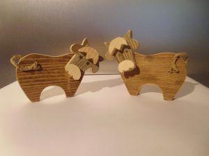 mucca, animaletti, legno, materiale di recupero, artigianato, cow, wood, cows