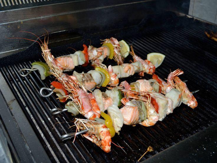 Something interesting is prepared here! #DelfinoBlu #Gastronomy #SeaFood #Corfu