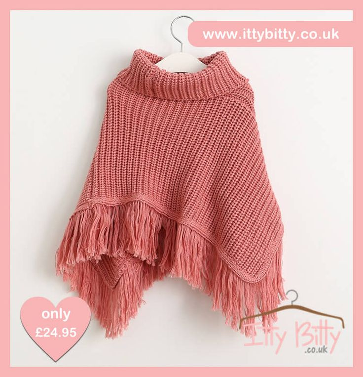 IN STOCK | Itty Bitty Pink Tassel Poncho  Shop here 👉🏻https://www.ittybitty.co.uk/product/itty-bitty-pink-tassel-poncho/?utm_content=bufferf9548&utm_medium=social&utm_source=pinterest.com&utm_campaign=buffer  🅿️ PayPal or 💳 Credit/Debit card 🔐 Secure website