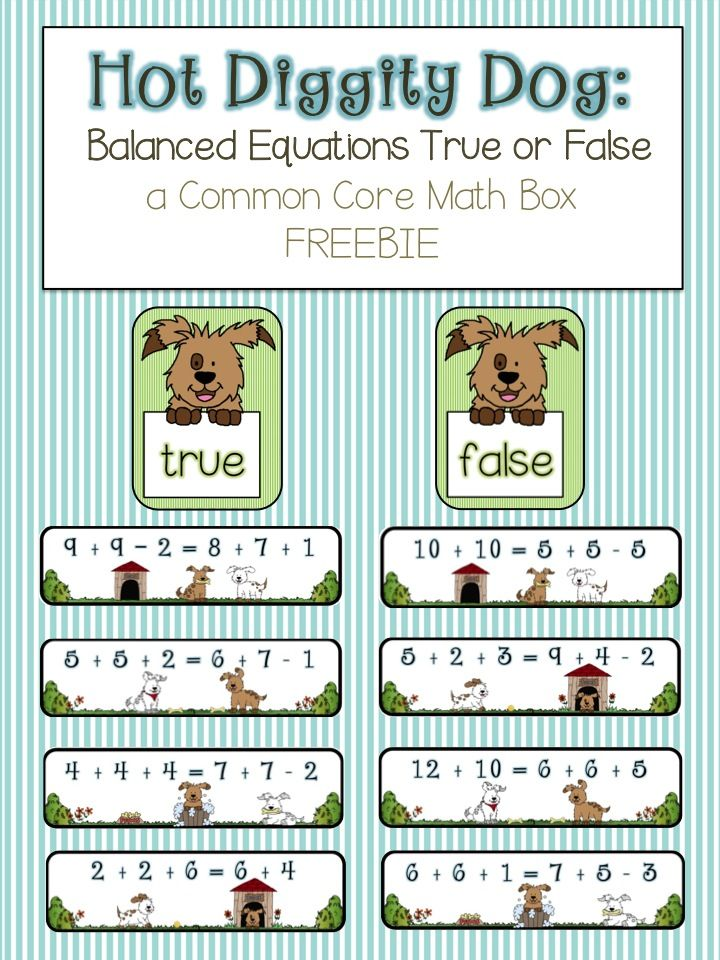 FREE:  math box for operations and algebraic thinking