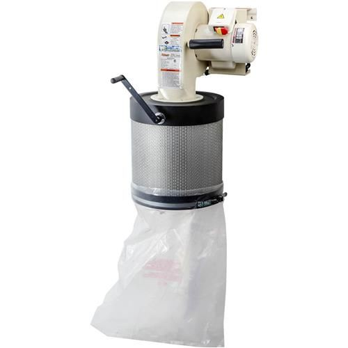 Grizzly Wall-Mount Dust Collector with Canister Filter