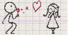 schema punto croce cuscino uomo amore   Hobby lavori femminili - ricamo - uncinetto - maglia