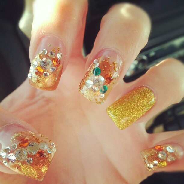 35 best Jeweled nail art! One day I want my nails to look like this ...