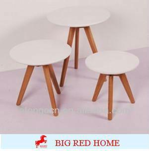 Radius white side tables