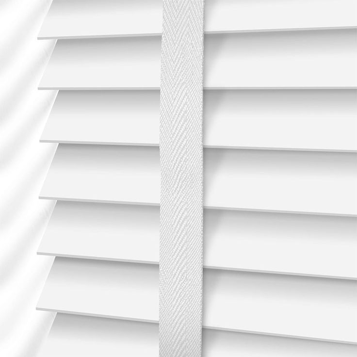 Bright White & Chalk Wooden Blind - 35mm Slat