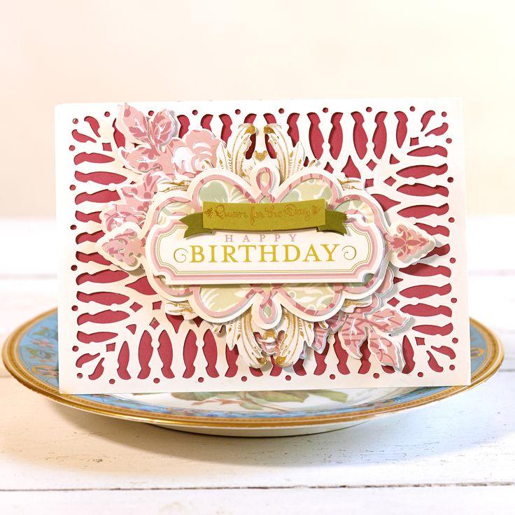 Elegant Anna Griffin Garden Gate Flourishing Card   Make It Now