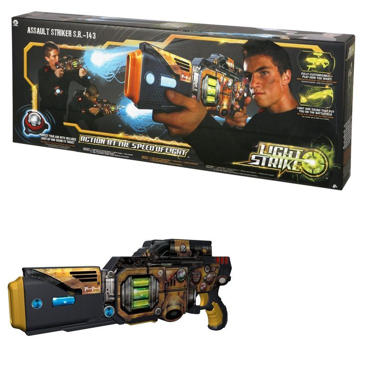Laser Tag 168245: Wowwee Light Strike Assault Striker With Simple Target - Yellow S.R.-143 - New -> BUY IT NOW ONLY: $79.99 on eBay!