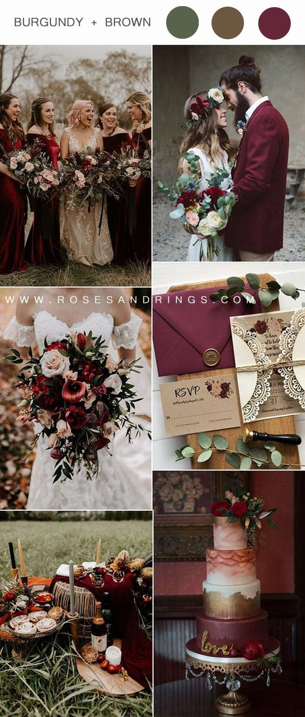 Top 12 Wedding Color Ideas For Fall 2020 In 2020 Fall Wedding