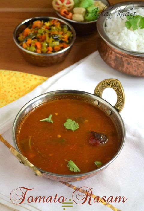 Tomato or Thakkali Rasam - Easy and quick rasam recipe ..works great as side with steamed rice.