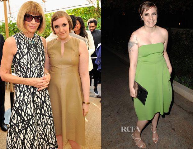 Lena Dunham In Reed Krakoff – Vogue CFDA Fashion Fund Event