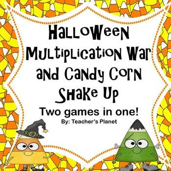 halloween multiplication games war and candy corn shake up - Halloween Art For Kindergarten
