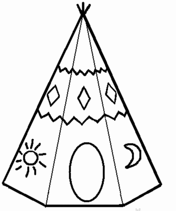 free printable tepee coloring pages - photo#9