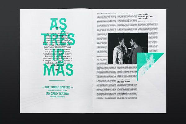 Festivais Gil Vicente 2011 Editorial Design Inspiration