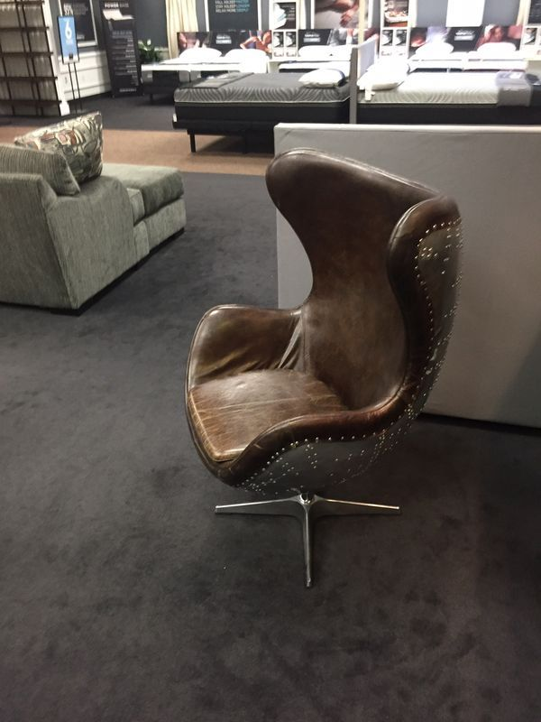 Incredible Solomon Leather Egg Chair With Metal Back For Sale In Tempe Short Links Chair Design For Home Short Linksinfo