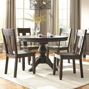 Trudell 5 Piece Dining Set In Dark Brown