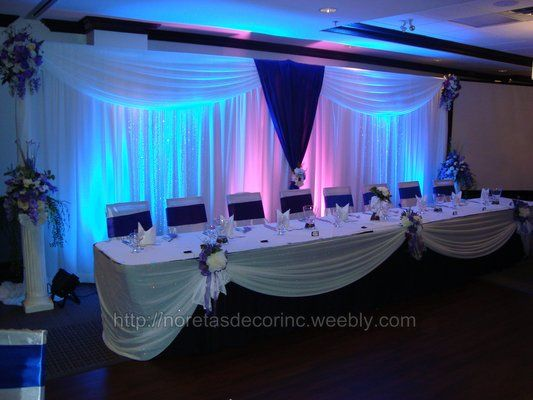 Wedding hall decoration, wedding decoration, head table decoration ...