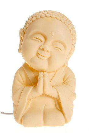 This Buddha Happiness lamp may be the perfect size for a nightlight *yesh, I'm afraid of the dark* @urban outfitters