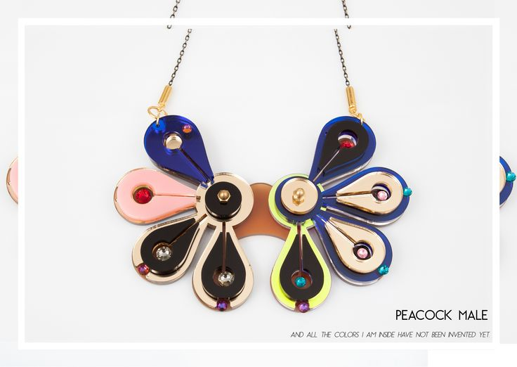 Peacock Male Necklace for Rain Forest Collection.