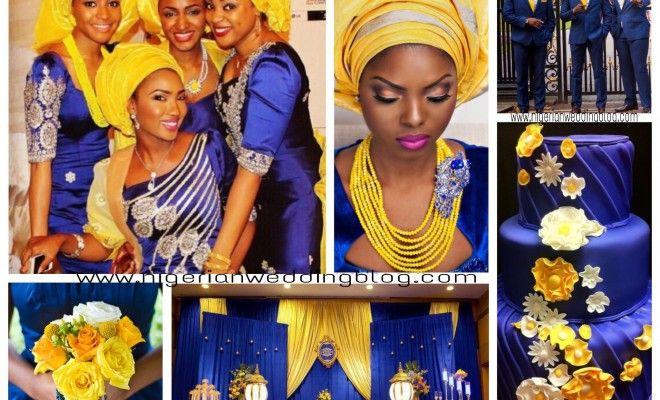 Nigerian Wedding Nigerian Wedding: Navy Blue & Yellow Wedding Color Scheme   Nigerian Wedding