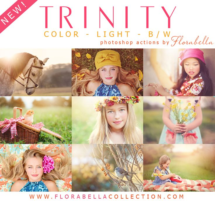 New Florabella Trinity Photoshop Actions + Workflow & Retouch Brushes (and free cloud overlays)