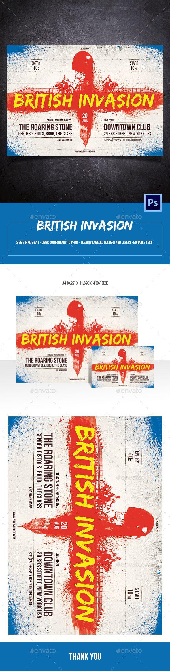 British Invasion Flyer
